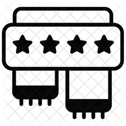 Scarf Glyph Icon