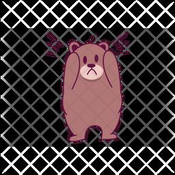 Scary Bear Icon