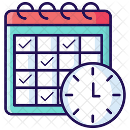 Schedule Icon Of Colored Outline Style Available In Svg Png Eps Ai Icon Fonts