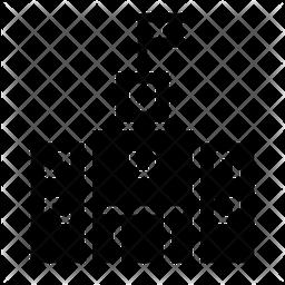 School Glyph Icon