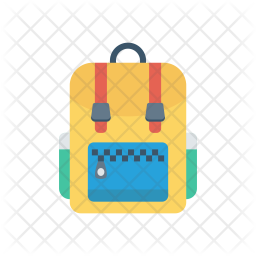 School bag Flat Icon