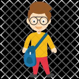 Schoolboy Cartoon Icon