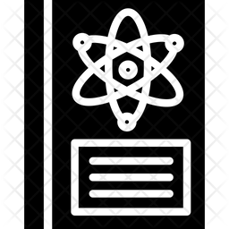 Science Book Glyph Icon