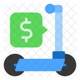 Scooter Cost Icon Of Flat Style Available In Svg Png Eps Ai Icon Fonts