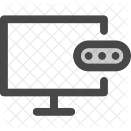 Screen Colored Outline Icon