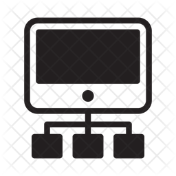 Screen Hierarchy Glyph Icon
