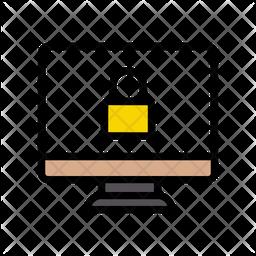 Screen Lock Colored Outline Icon