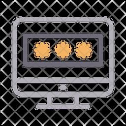 Screen Lock Line Icon