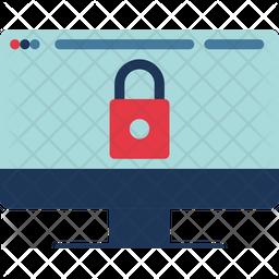 Screen Lock Flat Icon