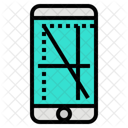 Screen Resolution Colored Outline Icon