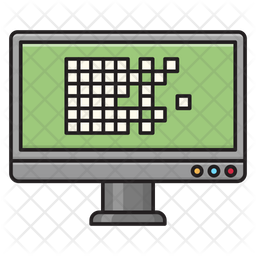 Screen Security Colored Outline Icon