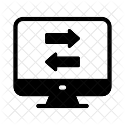Screen Transfer Glyph Icon