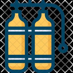 Scuba Colored Outline Icon