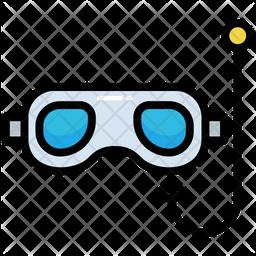 Scuba Glasses Colored Outline Icon