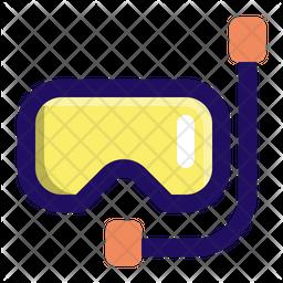 Scuba Mask Colored Outline Icon