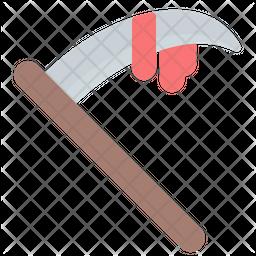 Scythe Flat  Emoji Icon