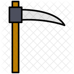 Scythe Colored Outline Icon