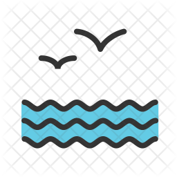 Sea Icon of Colored Outline style - Available in SVG, PNG ...