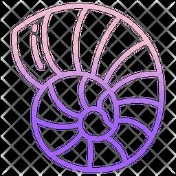 Sea Shell Gradient Icon