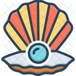 Sear Peal Colored Outline Icon