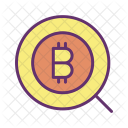 Search Bitcoin Icon