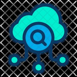 Search Cloud Data Icon