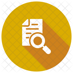 Search Document Glyph Icon