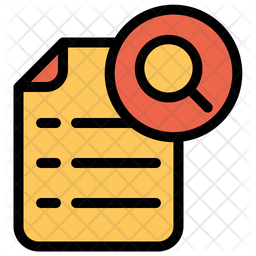 Search Document Icon Of Colored Outline Style Available In Svg Png Eps Ai Icon Fonts