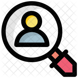 Search employee Colored Outline Icon