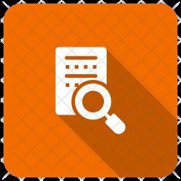 Search File Glyph Icon