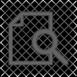 Search File Line Icon