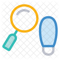 Search footprint Colored Outline Icon