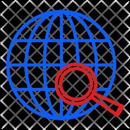 Search, Globe, Globel, International, Logistic Icon