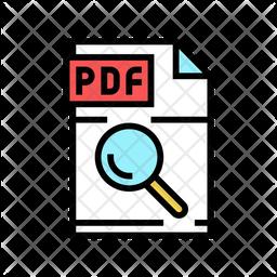 Search Pdf Colored Outline Icon