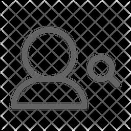 Search user Line Icon