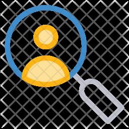 Search User Colored Outline Icon