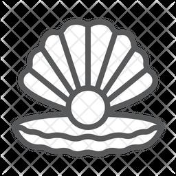 Seashell Line Icon
