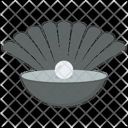 Seashell Pearl Flat Icon