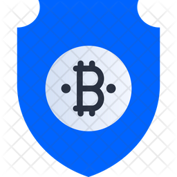 Secure Bitcoin Flat Icon