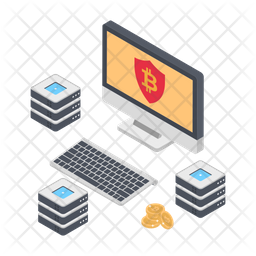 Secure Bitcoin Network Icon
