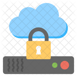 Secure Cloud Computing Icon