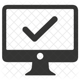 Secure computer Glyph Icon