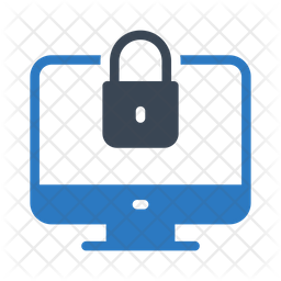 Secure Computer Flat Icon
