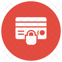 Secure Creditcard Glyph Icon