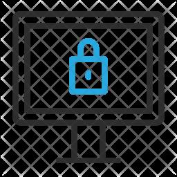 Secure desktop Line Icon