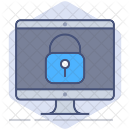Secure Device Colored Outline Icon