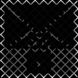 Secure E-mail Glyph Icon