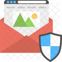 Secure Email Flat Icon