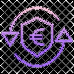 Secure Euro Transaction Icon