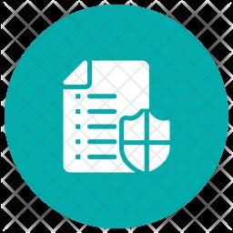 Secure File Glyph Icon